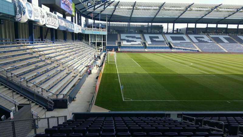 Seating view for Children's Mercy Park Section 101 Row 15 Seat 8