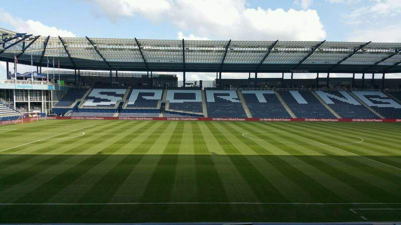 Seating view for Children's Mercy Park Section 105 Row 15 Seat 8