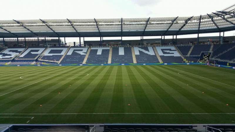 Seating view for Children's Mercy Park Section 109 Row 18 Seat 8