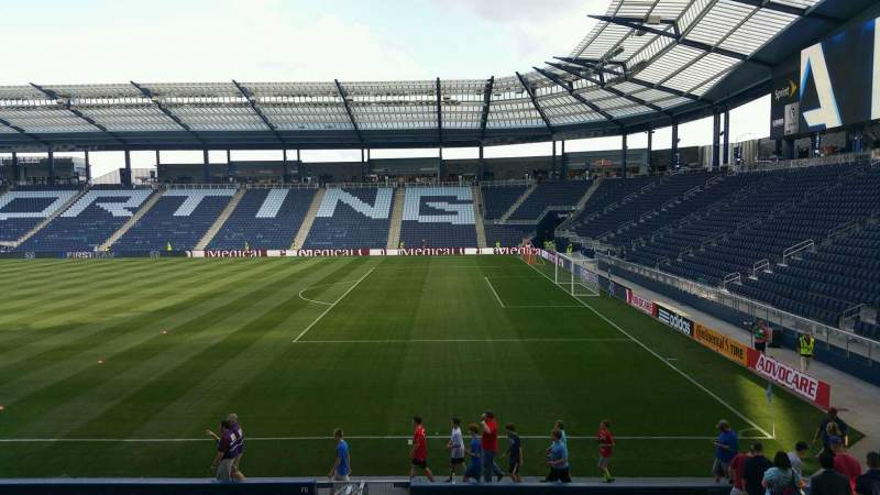 Seating view for Children's Mercy Park Section 112 Row 9 Seat 9