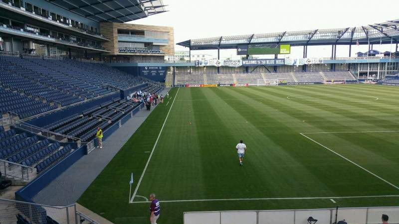 Seating view for Children's Mercy Park Section 116 Row 13 Seat 8