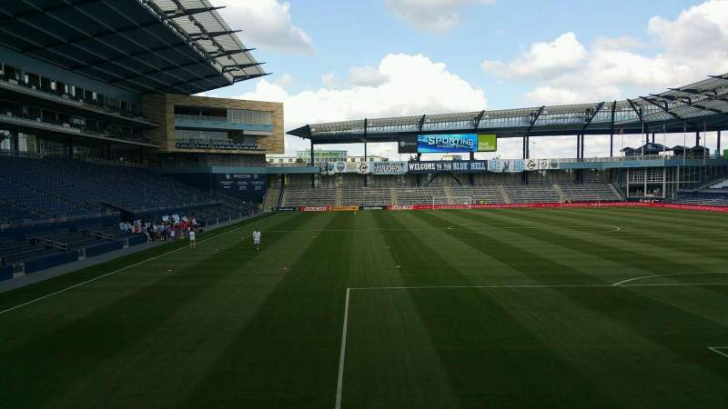 Seating view for Children's Mercy Park Section 116 Row 19 Seat 17