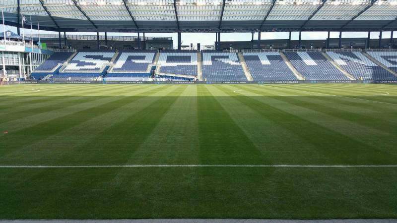 Seating view for Children's Mercy Park Section F4 Row 3 Seat 7