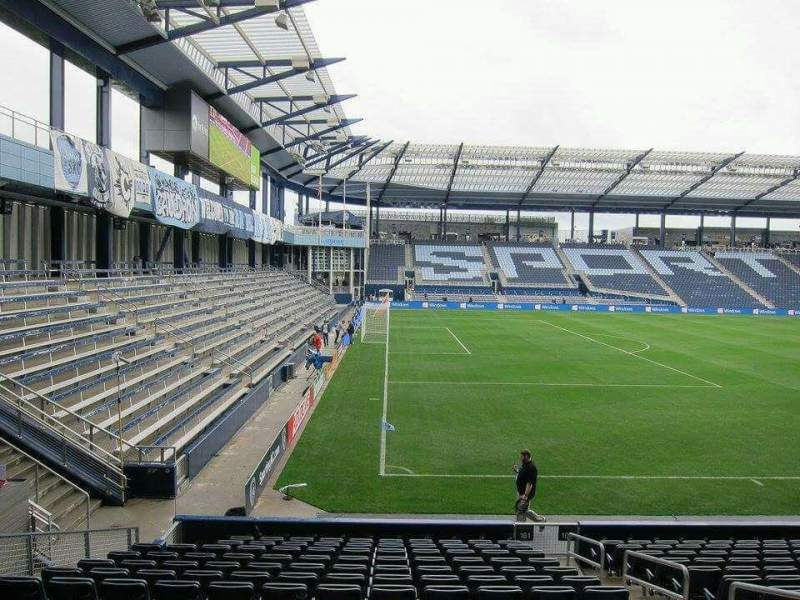 Seating view for Children's Mercy Park Section 101 Row 15 Seat 08