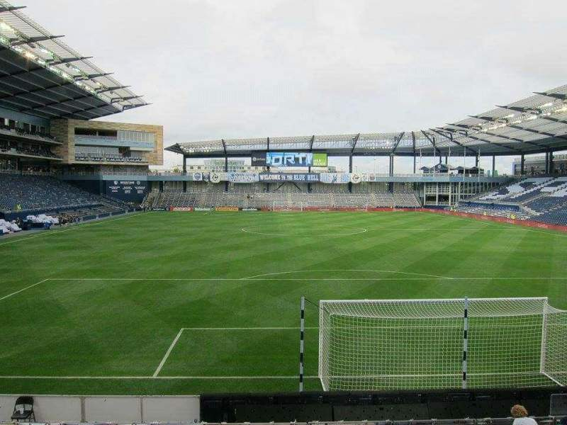 Seating view for Children's Mercy Park Section 118 Row 11 Seat 11