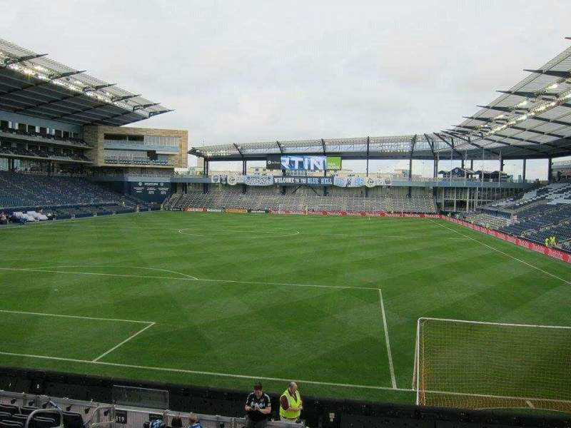 Seating view for Children's Mercy Park Section 120 Row 12 Seat 09