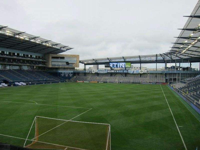 Seating view for Children's Mercy Park Section 121 Row 12 Seat 13