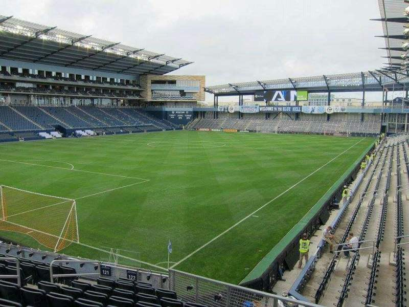 Seating view for Children's Mercy Park Section 122 Row 14 Seat 10