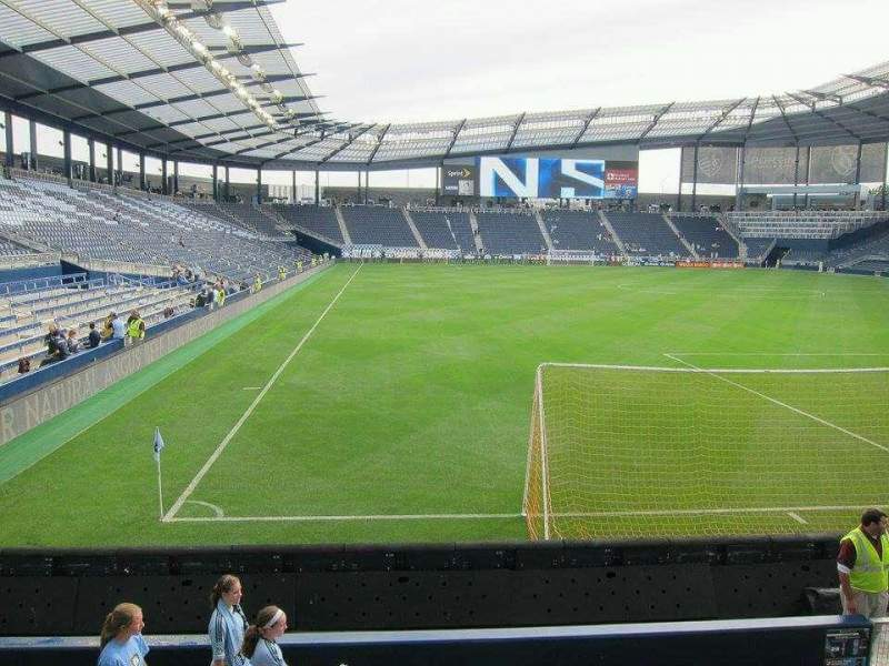 Seating view for Children's Mercy Park Section M4 Row 08 Seat 14