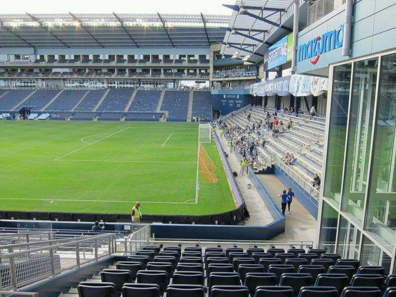 Seating view for Children's Mercy Park Section 134 Row 20 Seat 06