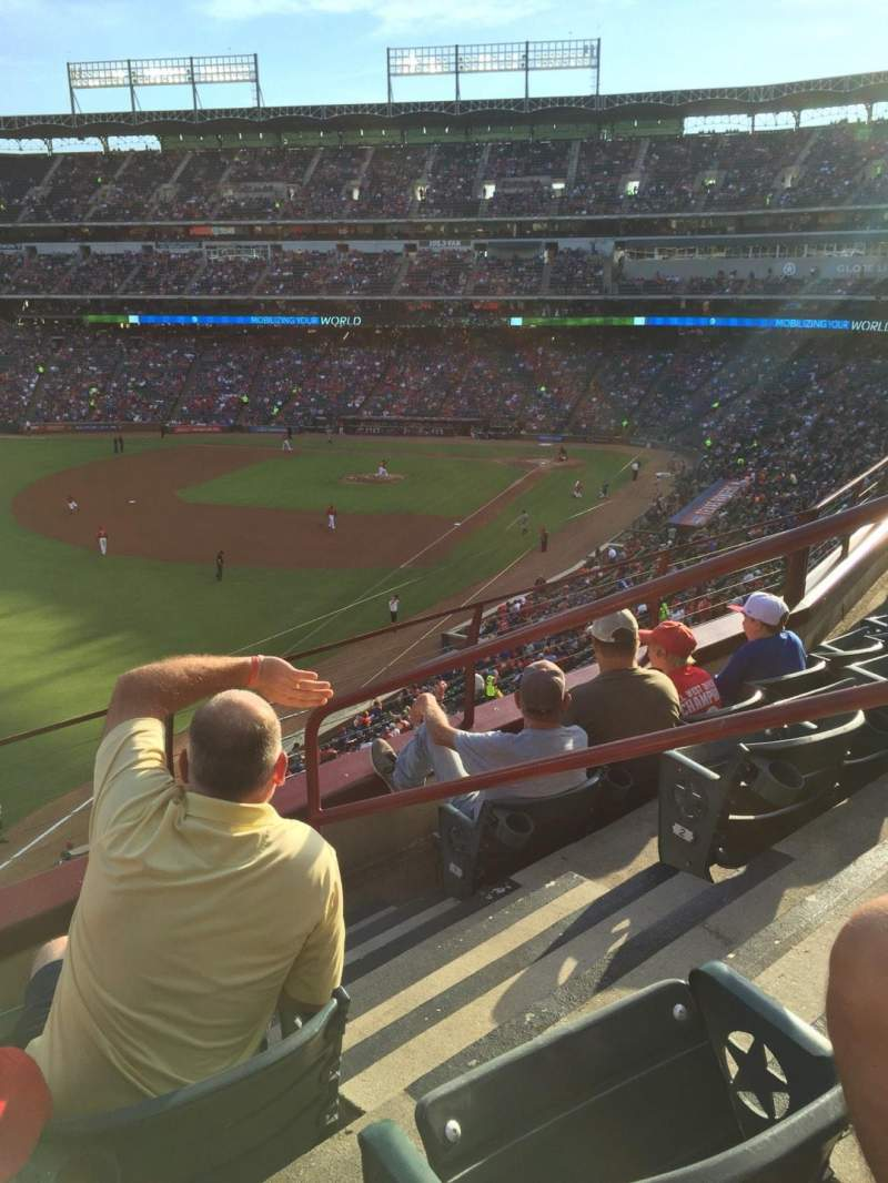 Seating view for Globe Life Park in Arlington Section 211 Row 4 Seat 12