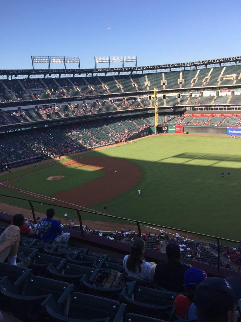 Seating view for Globe Life Park in Arlington Section 339 Row 6 Seat 11