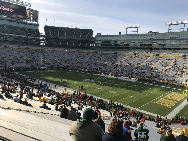 Lambeau Field, section: 109, row: 60, seat: 18
