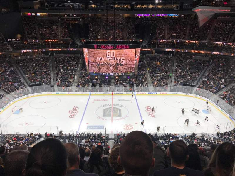 Seating view for T-Mobile Arena Section 205 Row M Seat 10