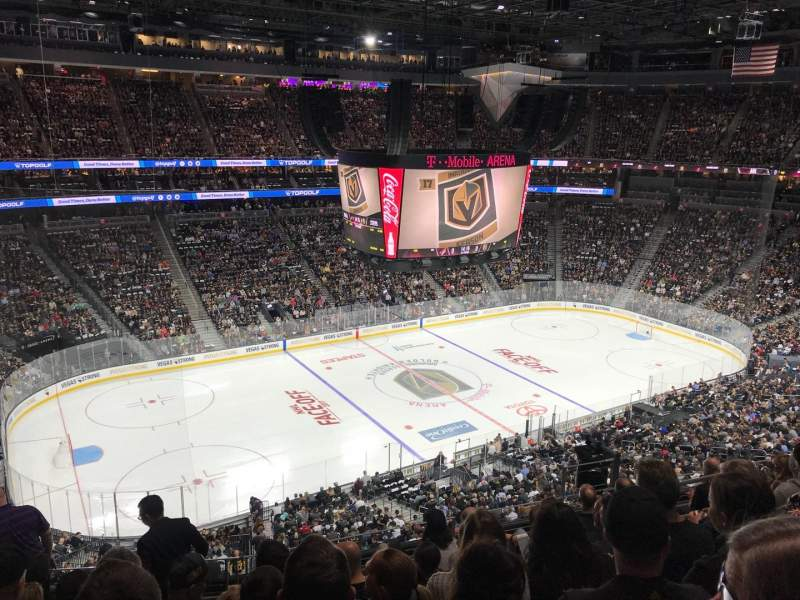 T-Mobile Arena, section: 202, row: G, seat: 3