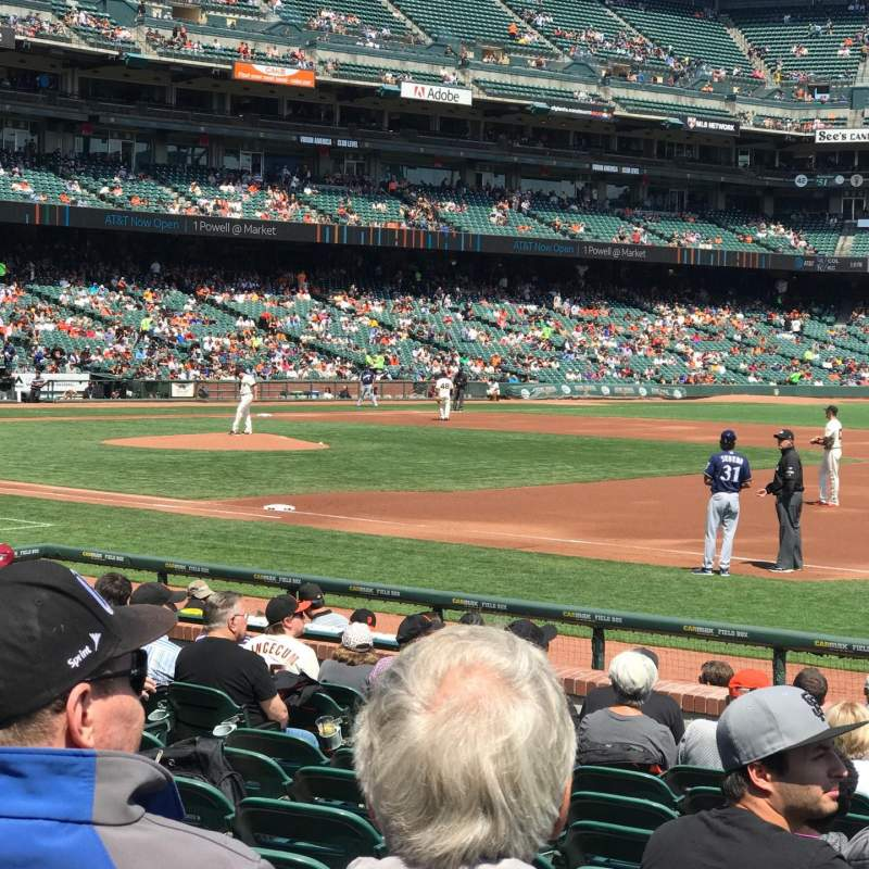 Seating view for Oracle Park Section PLB105 Row 12 Seat 7