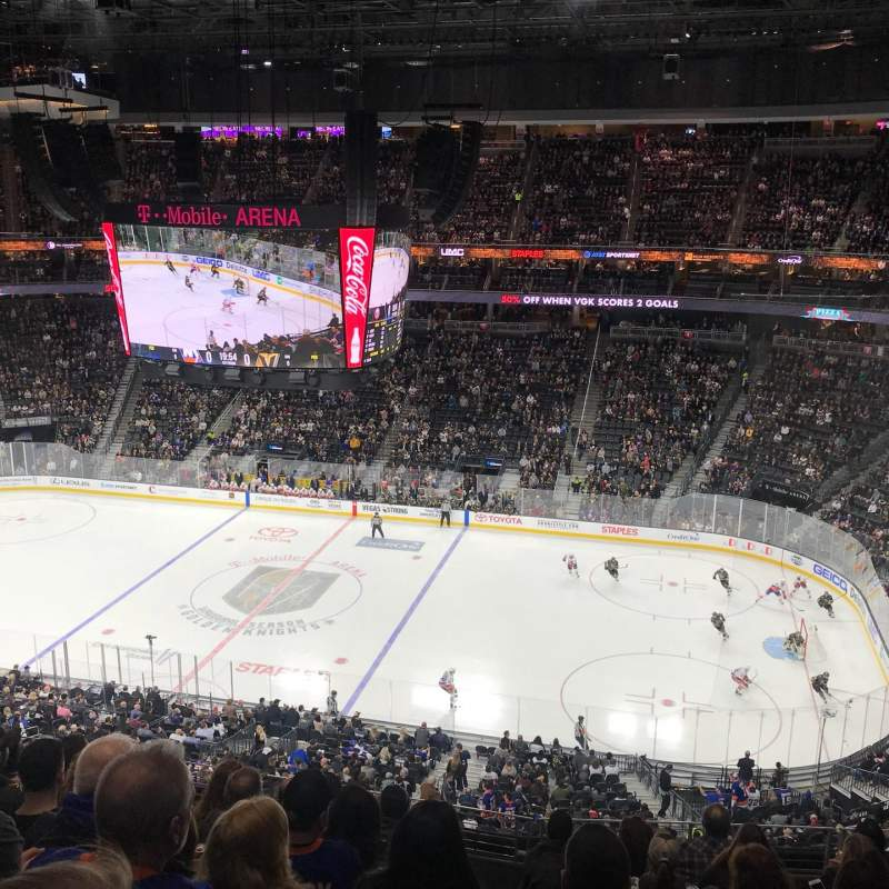 T-Mobile Arena, section: 225, row: H, seat: 10