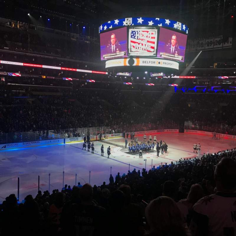 Seating view for Staples Center Section PR8 Row 7 Seat 10