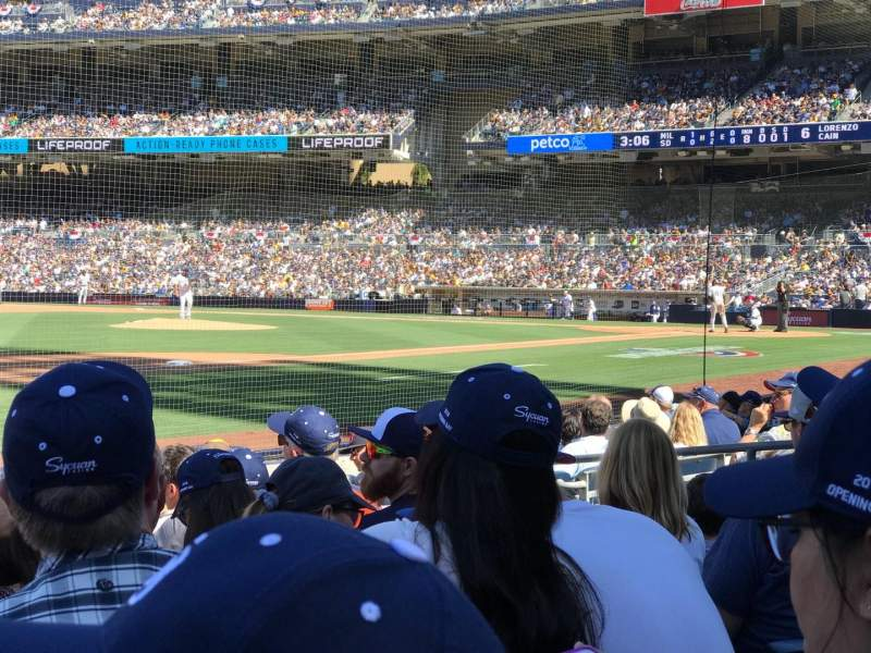 Seating view for PETCO Park Section 114 Row 10 Seat 10