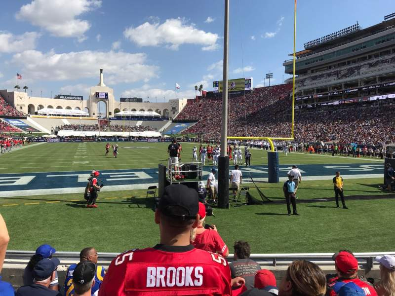 Seating view for Los Angeles Memorial Coliseum Section 115 Row 5 Seat 13