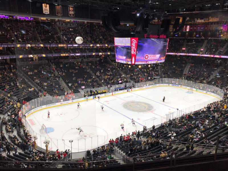 Seating view for T-Mobile Arena Section 219 Row E Seat 8