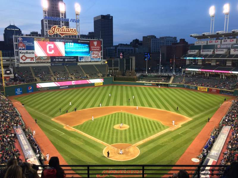 Seating view for Progressive Field Section 454 Row A Seat 14