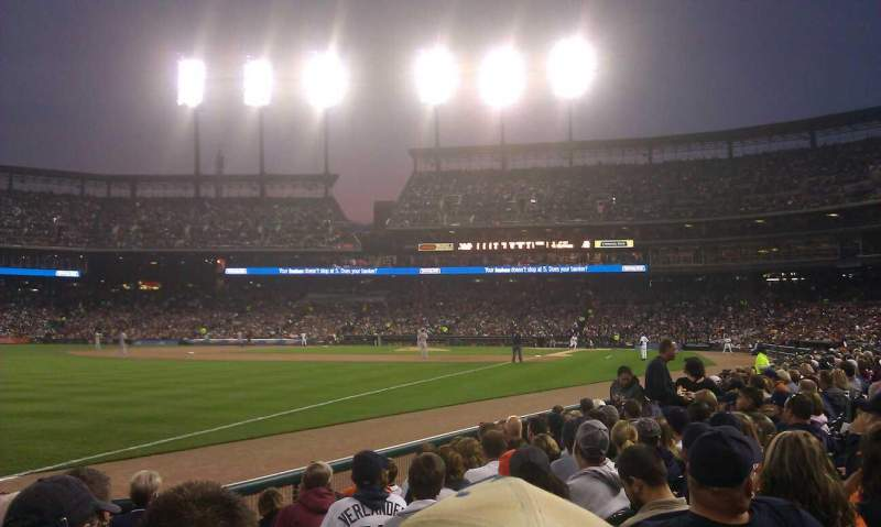 Seating view for Comerica Park Section 142 Row 9 Seat 2