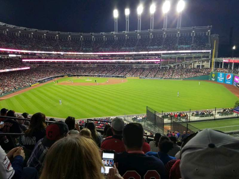 Progressive Field, section: 303, row: H, seat: 5