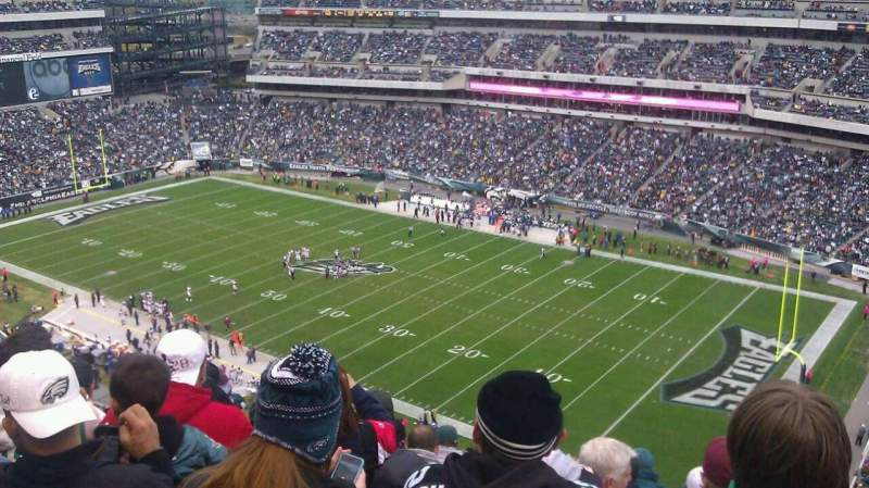 Seating view for Lincoln Financial Field Section 230 Row 12 Seat 15