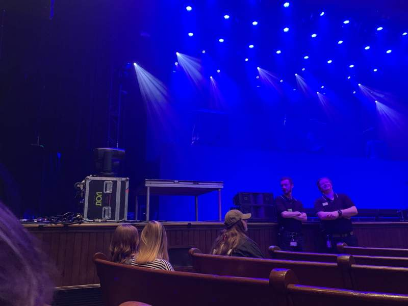 Seating view for Ryman Auditorium Section Main Floor 7 Row G Seat 6