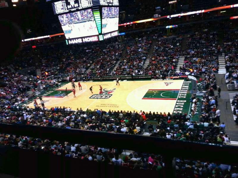 Seating view for BMO Harris Bradley Center Section 420 Row a Seat 3
