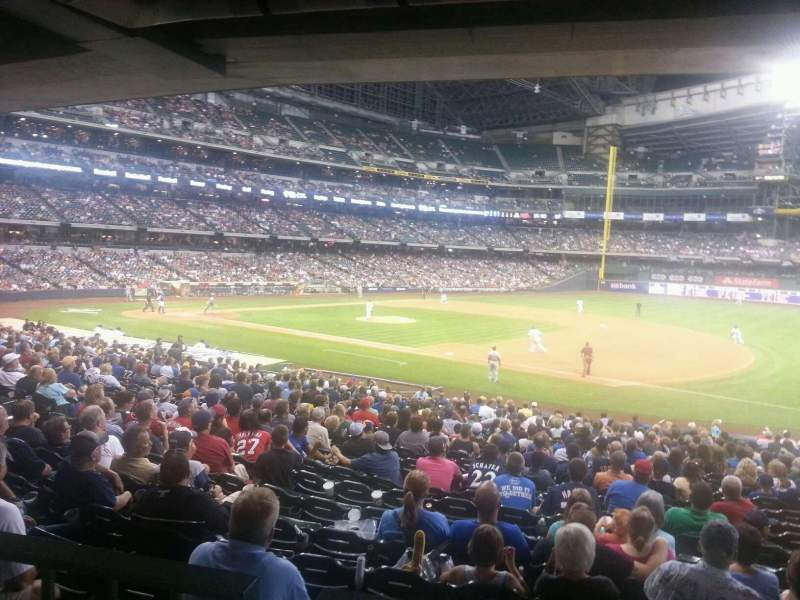 Seating view for Miller Park Section 111 Row top Seat 7