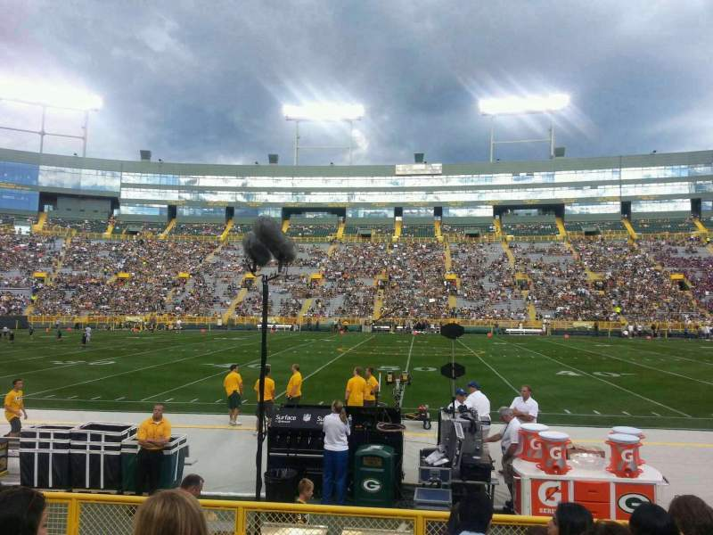 Seating view for Lambeau Field Section 120 Row 7 Seat 15