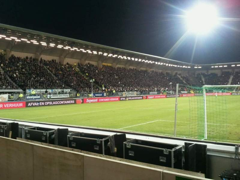 Seating view for kyocera stadion Section vak-W Row 1 Seat 6