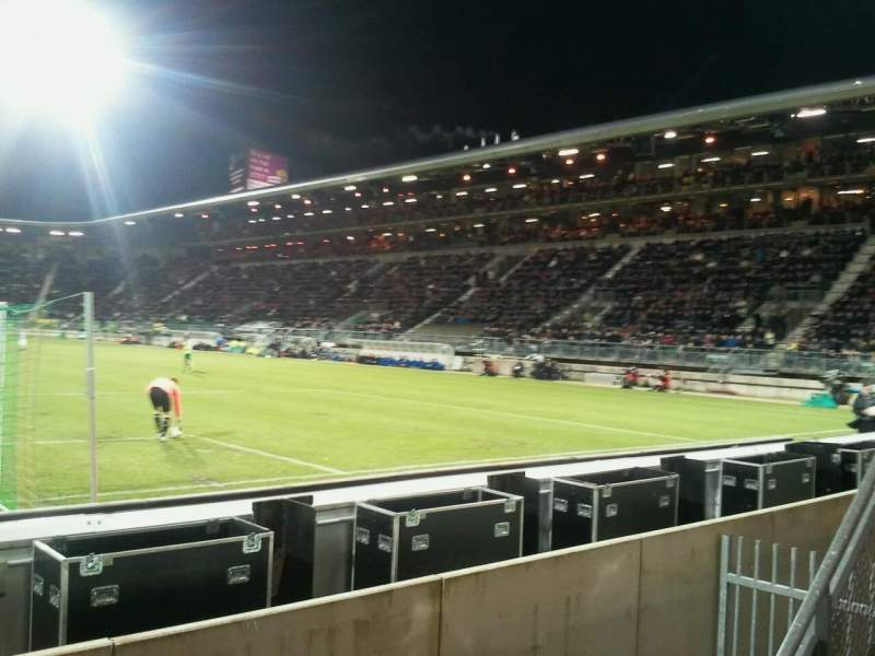 Seating view for Cars Jeans Stadion Section vak-W Row 1 Seat 6