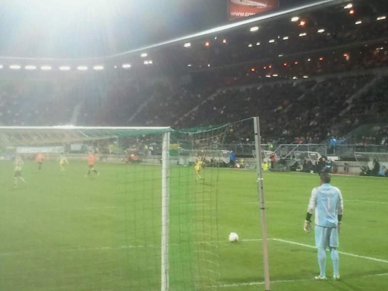 Seating view for Cars Jeans Stadion Section vak - w Row 1 Seat 6