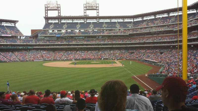Seating view for Citizens Bank Park Section 142 Row 23 Seat 2