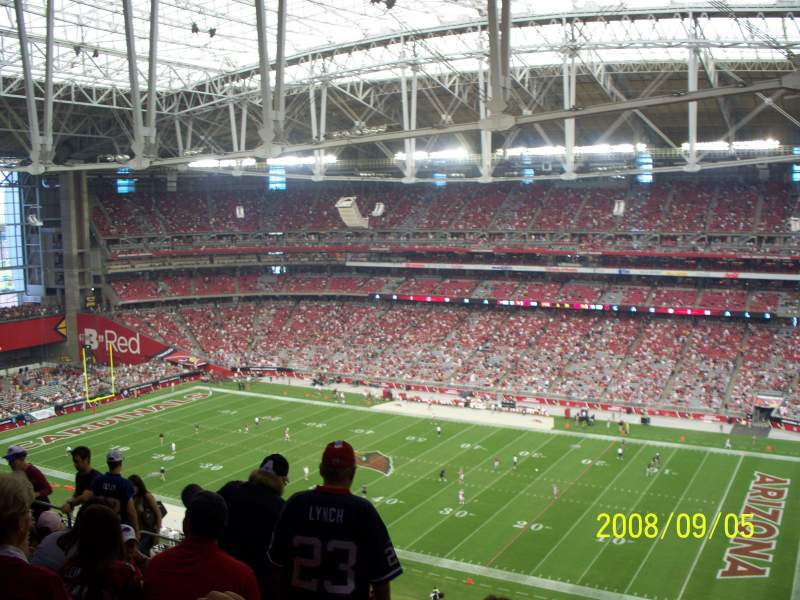 Seating view for University of Phoenix Stadium Section 438 Row 11 Seat 6