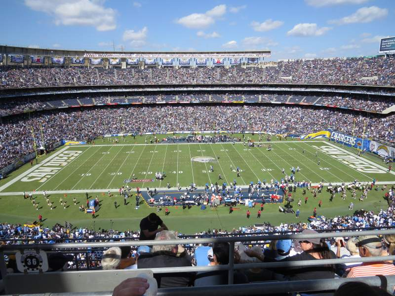 Seating view for Qualcomm Stadium Section V36 Row 6 Seat 14