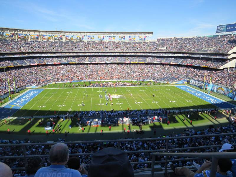 Seating view for Qualcomm Stadium Section LV35 Row 4 Seat 18