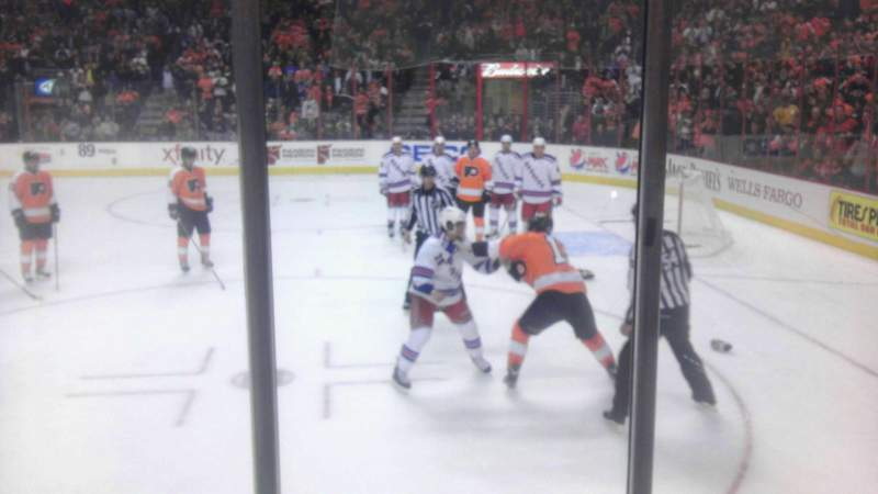 Seating view for Wells Fargo Center Section 111 Row 3 Seat 2