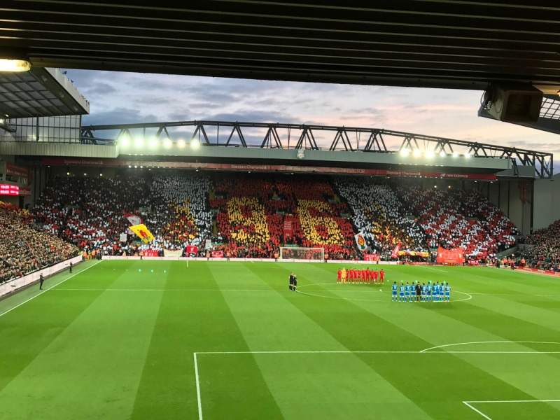Seating view for Anfield Section 126 Row 28 Seat 152