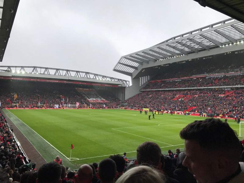 Seating view for Anfield Section 127 Row 20 Seat 193