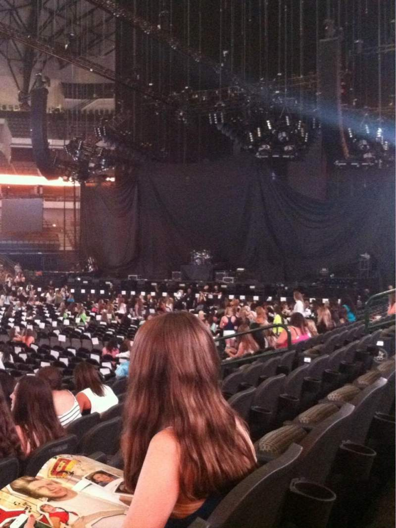 American Airlines center, section: 108, row: J, seat: 16